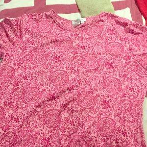 Cold water creek pink pattern shirt
